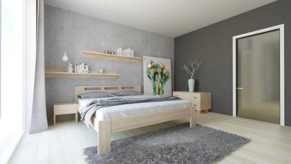Manželská posteľ z masívu Nela