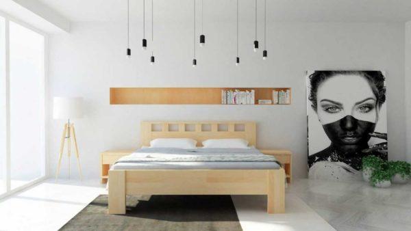 Manželská posteľ z masívu Jana